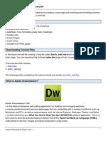 Adobe Dream Weaver Basics CS4