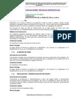 ESPECIFICACIONES TECNICAS - ESPECIFICAS