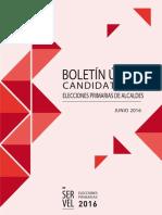 Boletin Unico Primarias 2016