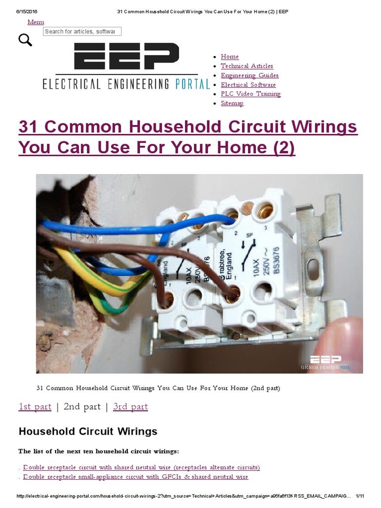 Astounding 31 Common Household Circuit Wirings You Can Use For Your Home 2 Wiring Digital Resources Pelapslowmaporg