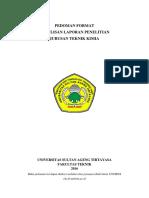 Pedoman Format Penelitian 2016
