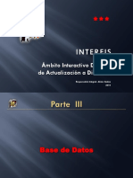 INTERFIS. BD03. III. Base de Datos. 2010