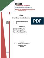 Origenes de La Teoria General de Sistemas
