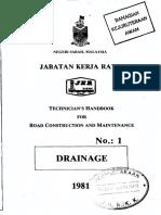 58429633 JKR Handbook No1 Drainage