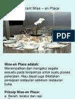 Restaurant Mise-En Place