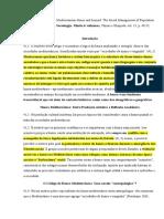 Fichamento Giordano, 2005 - Mediterranean Honor and beyond