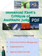 Kant's Critique on Aesthetics