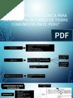 GUIA DE PRÁCTICA CLINICA PARA LA ATENCION DE CASOS DE FIEBRE CHIKUNGUYA EN EL PERÚ