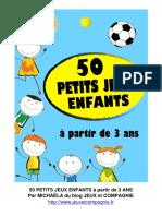 Cinquante petits jeux gratuits pour nos bambins au format PDF