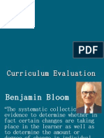Curriculum Evaluation