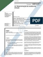 NBR 6472 - 1993 - Cal - Determinação Do Resíduo de Extinção