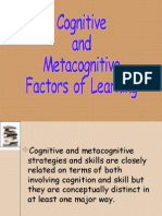 Cognitive and Met a Cognitive Factors of Learning 028
