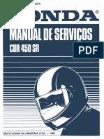 Manual de Serviço - CBR 450 SR