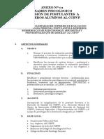 Directiva de Evaluacion Psicoologica Anexo Nª 01