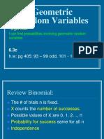 6.3c Geometric Random Variables