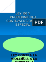 Tema No 2 Ley 103 y Procedimiento Contravencional y Especial