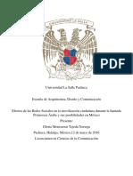 Efectos de Las Redes Sociales en La Movilización Ciudadana