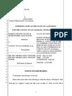 Fine's Notice of Farr Hearing - Marina Strand v Del Rey Shores - LASC - BS092794