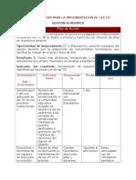 Plan de Gestion de TICS (Academia)