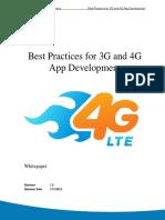 Best Practices 3g 4g App Development