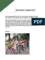 photograph description assignment
