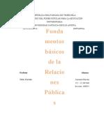Fundamentos Básicos de Las Relaciones Públicas