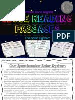 close reading - the solar system