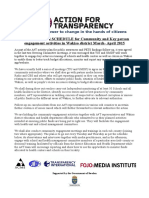 Action 4 Transparency  plan