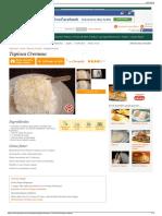 Receita de Tapioca Cremosa - Cyber Cook Receitas