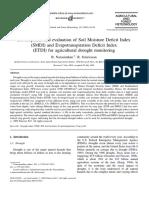 Development and Evaluation of Soil Moisture Deficit Index