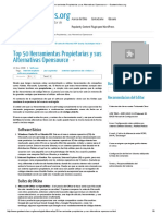 Top 50 Herramientas Propietarias y Sus Alternativas Opensource
