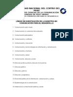 Líneas de Investigación y Esquema de Proyecto de Tesis CPD