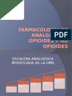 ANALGESICOS OPIOIDES Y NO OPIOIDES