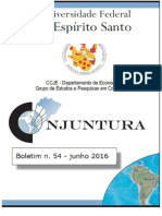 Primeiro Semestre de 2016 - Boletim 54 Completo - Conjuntura UFES