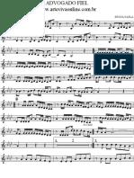 Partitura Sax Alto - Advogado Fiel Bb