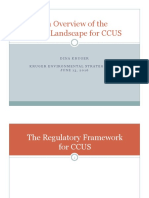 Regulatory Developments and Implications for CCUS Deployment