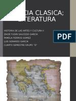 Grecia Clasica Literatura 1