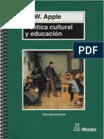 156725285 Apple M W Politica Cultural y Educacion