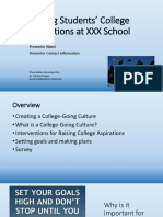 Sample Teacher Presentation-Raising College Aspirations