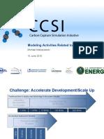 The CCSI, Modeling Carbon Capture