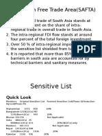 2016 South Asian Free Trade Area(SAFTA)