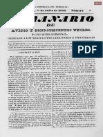 El Semanario de Avisos y Conocimientos Útiles Edición N° 10 del año 1853