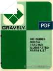 Gravely 800 Series Riding Tractor Illustrated Parts List
