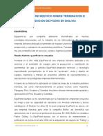 Compañias de Servicio Sobre Terminacion e Intevencion de Pozos en Bolivia