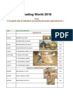 Wholesale Price List Master March 2010 Email - Best Sellers