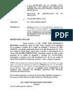 Solicitud de Certificacion de No Apelacion Jose Luis Francisco