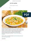 Sopa de Legumes Com Quinoa - Bolsa de Mulher