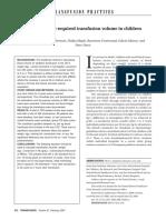 transfusion for children