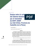 HIDROGEOLOGIA - 12 La anisotropía de un acuífero kárstico
