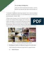 Condiciones de Agua en Obra Subterranea